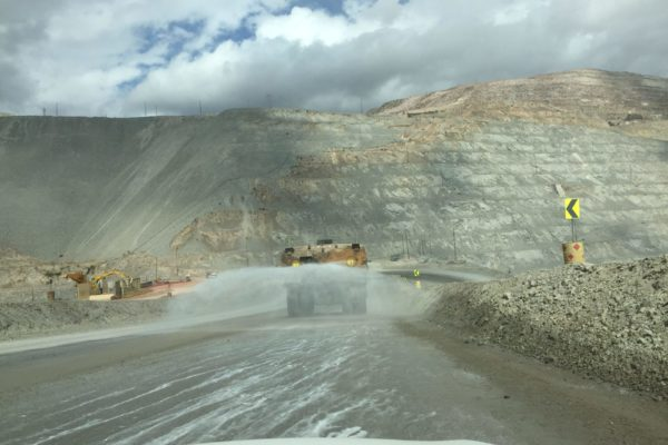 dust controlling a quarrying site