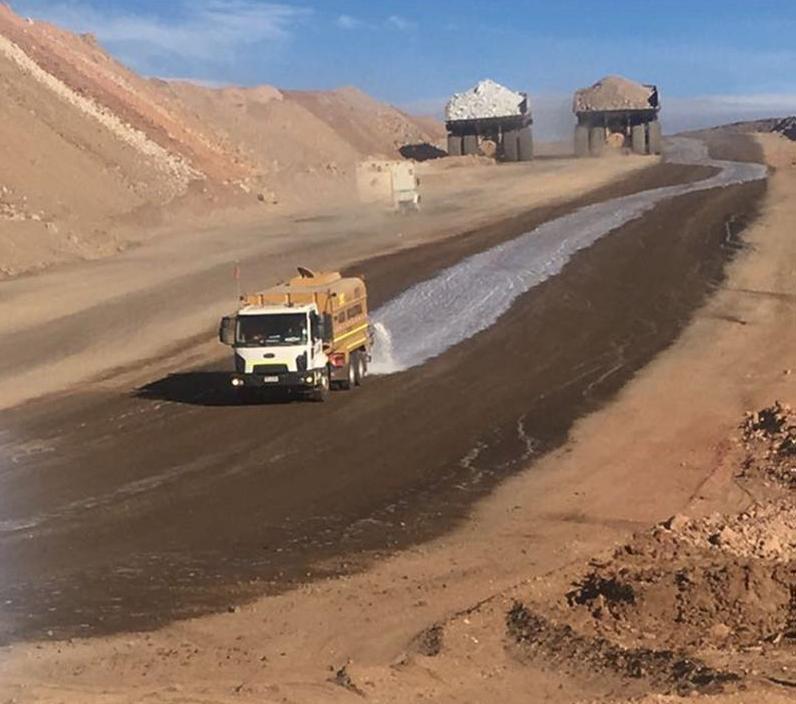 DMS-DS Haul Road Dust Control application