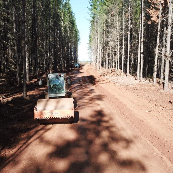 road flattening operation