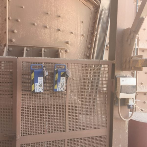 two abcdust equipment hanging