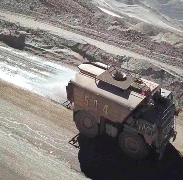 Control de Polvo en rampas mineras DMS-DS de ABCDust